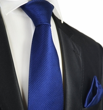 Deep Ultramarine 7-fold Silk Tie and Pocket Square Set