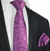 Dry Rose Paisley Tie and Pocket Square Set