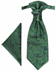 Emerald Green Paisley Cravat by Paul Malone