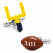 Football and Goal Post Cufflinks