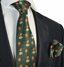 Forest Green Tie and Pocket Square Set