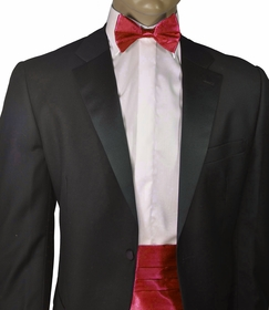 Fratello Cummerbund and Bow Tie . Burgundy (CB100-Burgundy)
