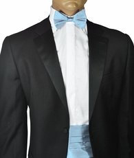 Fratello Cummerbund and Bow Tie . Lite Blue (CB100-LiteBlue)
