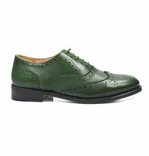 Full Brogue Oxford in Pine Green, All Leather by Paul Malone