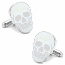 Glow-in-the-Dark Skull Cufflinks