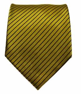 Gold and Brown Silk Tie by Paul Malone (398)