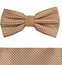 Gold Bow Tie and Pocket Square by Paul Malone (BT962H)