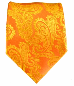 Gold Paisley Men's Tie