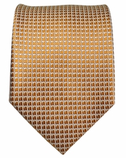 Gold Paul Malone Silk Necktie (962)