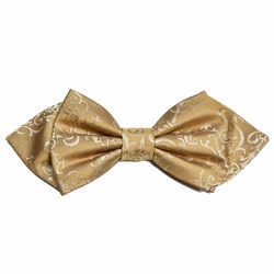 Gold Vines Silk Bow Tie by Paul Malone Red Line