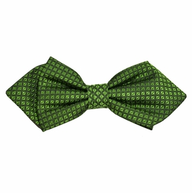 Green Checked Silk Bow Tie by Paul Malone Red Line