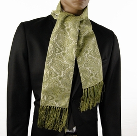 Green Paisley Men's Fashion Scarf (SC350-H)