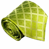 Green Paul Malone Silk Necktie (729)