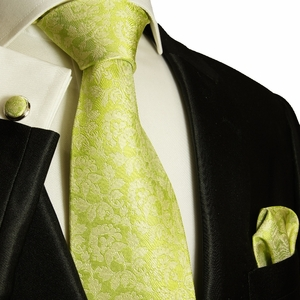 Green Paul Malone Silk Necktie Set (906CH)