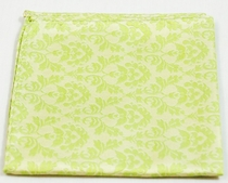 Green Pocket Square . 100% Silk (H906)