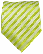 Green Striped Men's Necktie