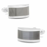 Grey Cat's Eye Bridged Cufflinks