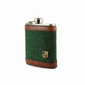 Hip Flask by The British Belt Company . Alpine Green