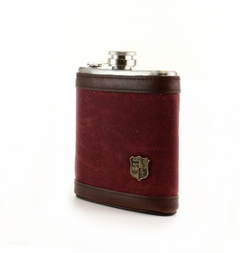 Hip Flask by The British Belt Company . Dark Port