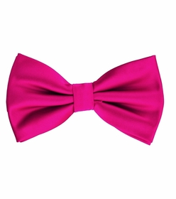 Hot Pink Bow Tie and Pocket Square Set (BT100-K)