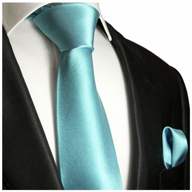 Angel Blue Necktie and Pocket Square (Q100-CCC)