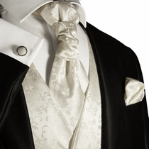 Ivory Mens Tuxedo Wedding Vest Set by Paul Malone