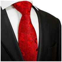 Jester Red Silk Necktie by Paul Malone