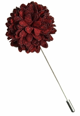 Lapel Flower . Burgundy Red