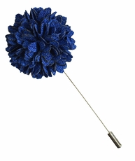 Lapel Flower . Dark Blue