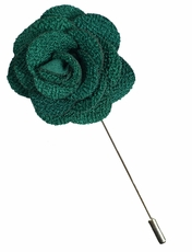 Lapel Flower . Emerald Green
