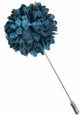 Lapel Flower . Lyons Blue