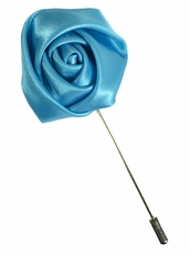 Lapel Flower . Mist Blue
