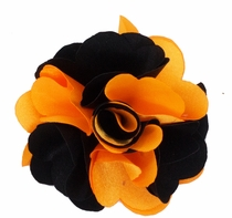 Lapel Flower . Orange and Black