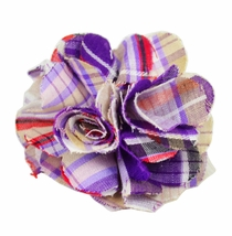 Lapel Flower . Purple Cotton