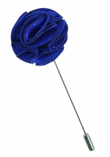 Lapel Flower . Royal Blue