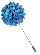 Lapel Flower . Sky Blue