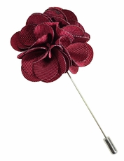 Lapel Flower . Solid Burgundy