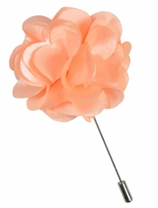 Lapel Flower . Solid Coral