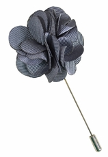 Lapel Flower . Solid Grey