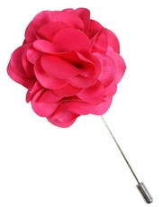 Lapel Flower . Solid Hot Pink