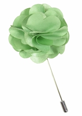 Lapel Flower . Solid Mint