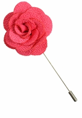 Lapel Flower . Solid Pink