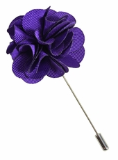 Lapel Flower . Solid Purple