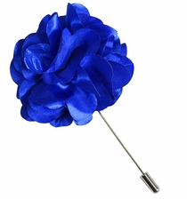 Lapel Flower . Solid Royal Blue