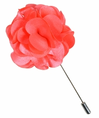 Lapel Flower . Solid Salmon