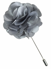 Lapel Flower . Solid Silver