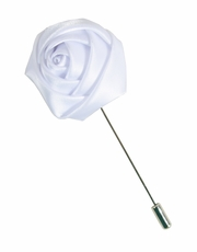 Lapel Flower . Solid White