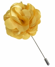 Lapel Flower . Solid Yellow