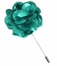 Lapel Flower . Turquoise