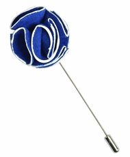 Lapel Rose , Blue and White